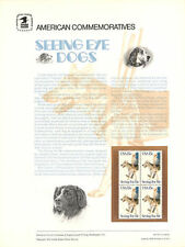 #113 15c Seeing Eye Dogs #1787 USPS Commemorative Stamp Panel