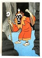 "ACEO The Witch Doctor from Scooby-Doo Hanna-Barbera  2.5"" x 3.5"" Original Neelie"