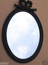 Espejo de Pared Ovalado Negro Vintage Retro 57x41 Shabby Estilo Baño Moderno