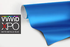 VViViD Metallic blue Matte vinyl car wrap 5ft x 5ft decal film air paint-protect