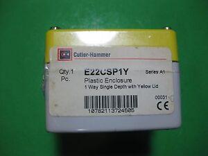 Cutler-Hammer Plastic Enclosure 1 Way -- E22CSP1Y -- New
