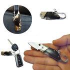 Mini Folding Outdoor Camping Survival Ebony Handle KeyChain Pocket Tool Black