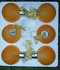 LUMIDA Xmas  Winterdekoration  Weihnachtskugeln  6 Stück  Timer  Gold  satiniert