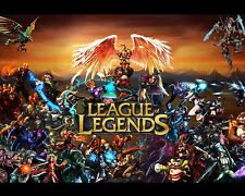 League of Legends LOL 2 Poster Art Print Gamers Wall Decor 20x16 inches