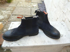 PENELOPE CHILTON BROGUE BOOTS, NAVY BLUE/BLACK, 42, 8, FUR LINED