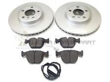 BMW X5 E53 3.0i 3.0D 4.4 00-06 FRONT BRAKE DISCS & PADS + WARNING WIRE SENSOR