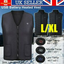 Mens Women Electric Vest Heated Cloth Jacket USB Warm Up Heating Pad Body Warmer