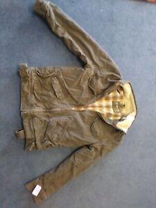 Mens Kirra Flannel Lined Denim Jacket Sz Small
