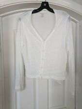 Majestic Paris Filatures Paris White Cream  Linen And Silk 2 Layer Top Size 4