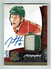 10-11 UD The Cup  Justin Falk  /41  Gold Spectrum  Auto  Patch  Rookie