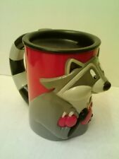 "DISNEY RACCOON Plastic SIPPY CUP/TRAVEL MUG  3D Design  5""  NEW! >>FAST SHIPPING"