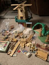 Vintage 90's Sylvanian Families epoch Huge LOT school old mill mole hill Extras