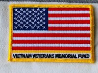 """VIETNAM VETERANS MEMORIAL FUND US Flag Patch Embroidered BRAND NEW 2.5 X 3.5"""""""