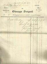 Lucca Fabbrica di Ombrelli di Seta di Giuseppe Sargenti 1840