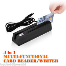 4 IN1 USB 3 Track Magnetic Card Reader Writer IC/RFID/PSAM Card Double Direction