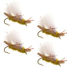 Chubby Chernobyl Ant Golden Foam Body Trout Fly Fishing Flies 4 Flies Hook #10