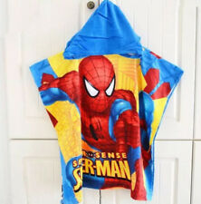 Spiderman Boys Kids Child Soft Hooded Poncho Beach Bath Swimming Pool Towel GIFT
