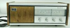 Sony FM AM Solid State Radio Vintage Wood 8F 56W Footed Table Top Transistor 60s