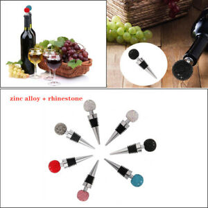 Wine Bottle Stoppers Crystal Diamond Ball Champagne Stopper Red Wine Bar Tool