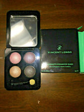 Vincent Longo * CASSIA * Diamante Eyeshadow Quad wet/dry pink purple gray tan
