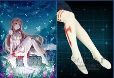 Janpan Anime Sword Art Online Yuuki Asuna Tights Pantyhose Stockings White