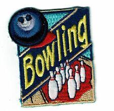 Girl Boy Cub Scout Girl Guide Fun Patch - Bowling