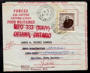 RCAF SIOUX LOOKOUT, ONT., 1965 FORCES AIR LETTER FORWARED
