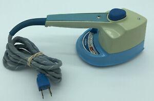 Vintage Sunbeam Shot of Steam Travel Portable Iron Fabric Cord Model SW1 Blue