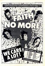 "30/1/88pg17 Single Advert 15x10"" Faith No More, We Care A Lot"