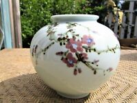"Lovely Vintage Asian Porcelain Vase Hand-Painted and Signed 5.5"" Tall"