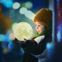 3D USB LED Magical Moon Night Light Moonlight Table Moon Lamp Decor P1V1 Q1M1
