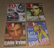 4 X F1 revistas de carreras-Lote de puestos de trabajo (septiembre de 1998/oct 1998/abril 1999/1999 de julio)
