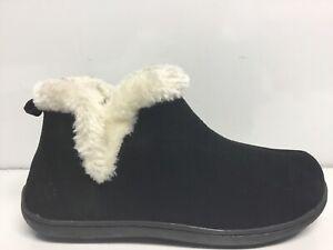 Tempur-Pedic Vallery Suede Bootie Slippers, Women's Size 9M, Black .*