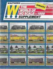 1989 Walthers HO Scale Model Railroad Train Catalog Supplement