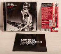 Lady Gaga Born This Way The Remix Japan CD UICS-9129 w/ Obi +2 Bonus