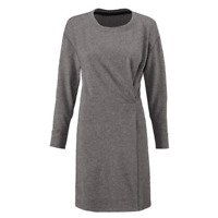 CAbi Put On Dress Womens Medium Heathered Gray Terry Cloth Cinched Crew 3650