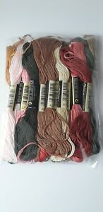 Cross Stitch Threads pack NEW Earthy Tones