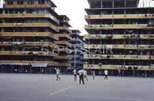 Original 1960 HONG KONG Photo Slide TSUI PING ESTATE Exercise Court - Kwun Tong