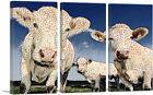 ARTCANVAS Cows Polka Dots Painting Home decor Canvas Art Print