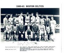 1980 1981 BOSTON CELTICS  8X10 TEAM PHOTO  BASKETBALL BIRD PARISH NBA USA