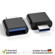 USB-C 3.1 Adapter Stecker zu USB A 3.0 OTG Mac iPad Pro Laptop Phone schwarz