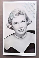 early vintage DORIS DAY actress autographed Real Photo Postcard