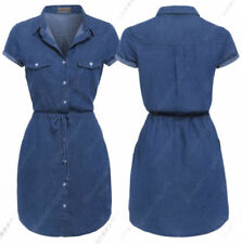 Casual Shirt Dresses for Women with Cap Sleeve