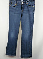 Lucky Brand Dungarees denim jeans Mid Rise Flare size 8 medium wash