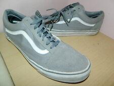 mens grey suede/textile Vans lace up plimsolls trainers uk 11 eur 46