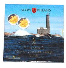 COFFRET FDC EURO FINLANDE 2006 8 PIECES + 2 EUROS COMMEMORATIVE 2005 KMS