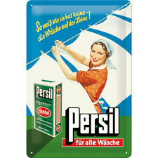 """Persil - as white as... ""Vintage 50s Metal Sign 20 x 30 Rockabilly"