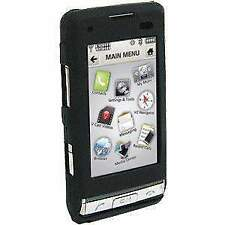 AMZER Premium Black Rubber Skin Fit Jelly Case Back Cover for LG Dare VX9700