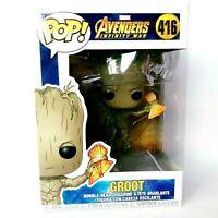 Funko Pop Figure Marvel Avengers Infinity War Groot with Stormbreaker 416 NIB