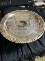 FB Rogers Silver Plate Pedestal Cake Dessert Stand Vintage